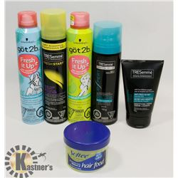 BAG OF ASSORTED HAIR PRODUCTS