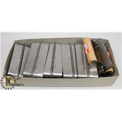 BOX OF 12 CEMENT TROWELS