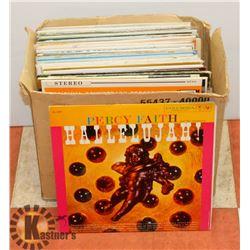BOX OF 44 LP RECORDS