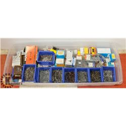 LARGE TOTE OF ASSORTED FASTENERS