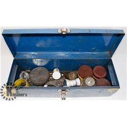 BLUE TOOL BOX TIRE REPAIR