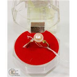 #73-FRESH WATER PEARL PINK RING