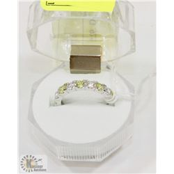 #18-CUBIC ZIRCONIA RING .925 STERLING SILVER RING