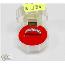 #11-CUBIC ZIRCONIA RING .925 STERLING SILVER RING