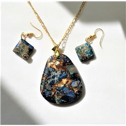 23)  SHADES OF BLUE WITH PYRITE (FOOL'S GOLD)