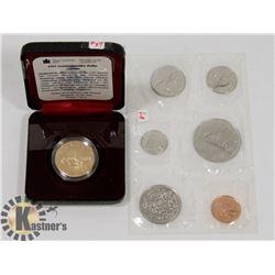 1981 CANADA COIN SET, 1992 COMMEMORATIVE LOONIE