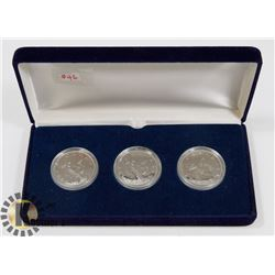 LOT OF 3 CANADA $1 COINS, 1975, 1976