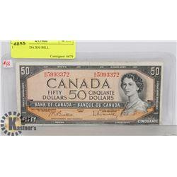 1954 CANADA $50 BILL