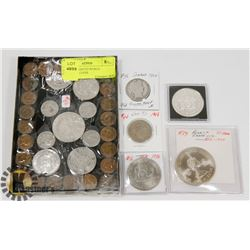 LOT OF ASSORTED WORLD CURRENCY COINS