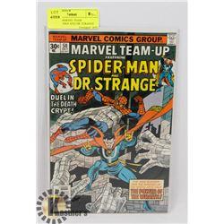 VINTAGE MARVEL TEAM UP-SPIDERMAN AND DR. STRANGE