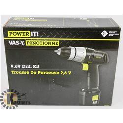 POWER IT 9.6V DRILL KIT