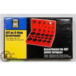 407 PIECE O-RING ASSORTMENT SET