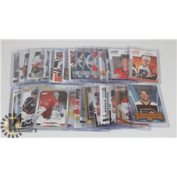 LOT OF 28 ROOKIE HOCKEY CARDS - ASST SETS & YEARS.