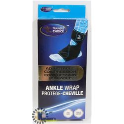 TRAINERS CHOICE ADJUSTABLE COMPRESSION ANKLE WRAP