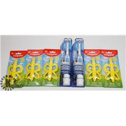 BAG OF ELECTRIC TOOTHBRUSHES AND BABY TOOTHBRUSHES