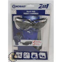 K - KOBALT 2 IN 1 VALUE PACK INCL GLOVES & SAFETY