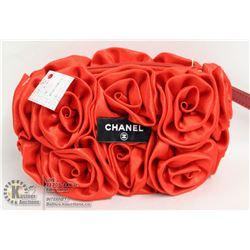 REPLICA CHANEL RED FLORAL DESIGN PURSE