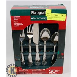 NEW 20 PIECE SET STAINLESS STEEL CUTLERY