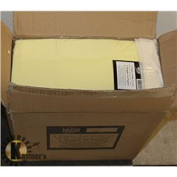 CASE OF 30 NEW IVORY DISPOSABLE TABLE CLOTHS