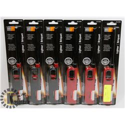 NEW! LOT OF 6 BARBECUE LIGHTERS