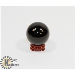 #52-NATURAL BLACK OBSIDIAN HEALING SPHERE BALL