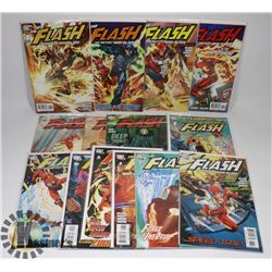 LOT OF 14 DC THE FLASH COMIC BOOKS