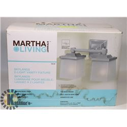 MARTHA LIVING SKYLANDS 2 LIGHT VANITY FIXTURE.