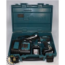 MAKITA 18V DRILL WITH BATTERY AND CHARGER.