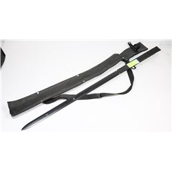 BIG AND HEAVY BLACK STEEL TACTICAL STYLE SWORD
