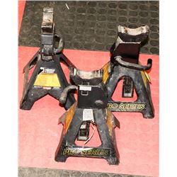 LOT W/ 3  THREE TON BLACK JACK STANDS