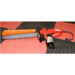 HOMELITE ELECTRIC CHAIN SAW.