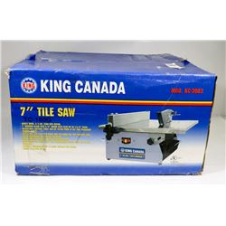 "KING CANADA 7"" TILE SAW. TOOLS"