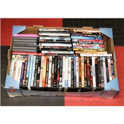 BOX OF APPROX 70 DVD'S