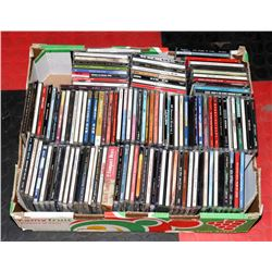 LARGE FLAT OF 80 PLUS CD'S  MIXED TYPES & STYLES