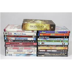BOX OF DVDS INCL GOLDMEMBER, BENJAMIN BUTTON,