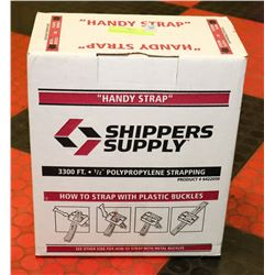 "HANDY STRAP 3300FT 1/2"" POLY PROPYLENE STRAPPING."