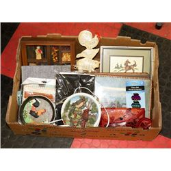 LARGE BOX OF ESTATE ITEMS INCL.. COLLECTABLES, NEW