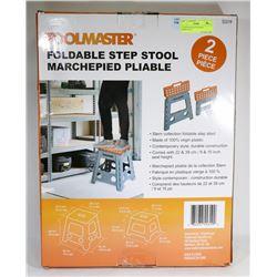 2 PACK TOOLMASTER FOLDABLE STEPSTOOLS