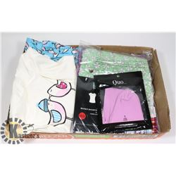 LOT OF 2 PJ SETS, 1 MED, 1 LG AND PAIR OF SOCKS