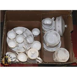 60 PIECE TEA & DINNER SET, INGLEWOOD ELIZABETHAN
