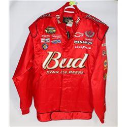 NASCAR/BUDWEISER RACING JACKET.