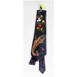 MICKEY TIE WITH COLLECTION OF VINTAGE TIE CLIPS.
