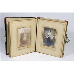 PHOTO ALBUM LATE 1800S WITH VINTAGE PHOTOS.