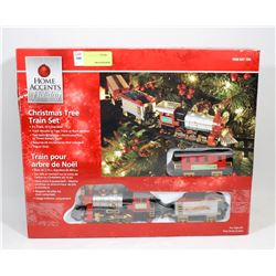 HOME ACCENTS CHRISTMAS TREE TRAIN SET