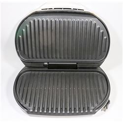 FAMILY SIZE GEORGE FOREMAN GRILL, NO DRIP TRAY