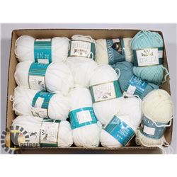 12 PACKAGES WORSTED ACRYLIC YARN 110 M EACH