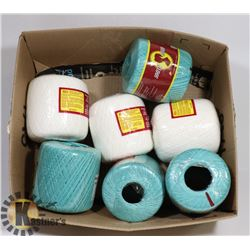 7 NEW PACKAGES OF SOUTH MAID YARN