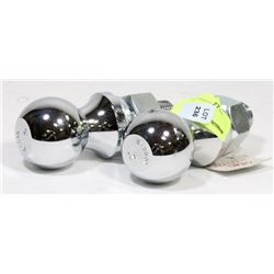 """TWO 2"""" HITCH BALLS WITH 3 HD HOOKS"""
