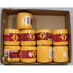 9 NEW PACKAGES OF SOUTH MAID YARN