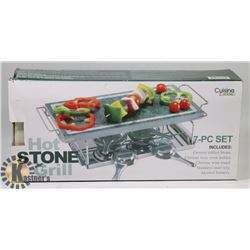 CUISINE ESSENTIALS HOT STONE GRILL 7PC SET.